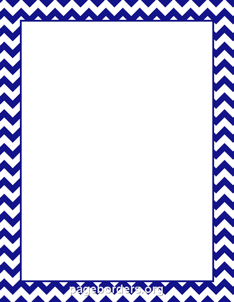 Border Art Clip Template Orange Chevron
