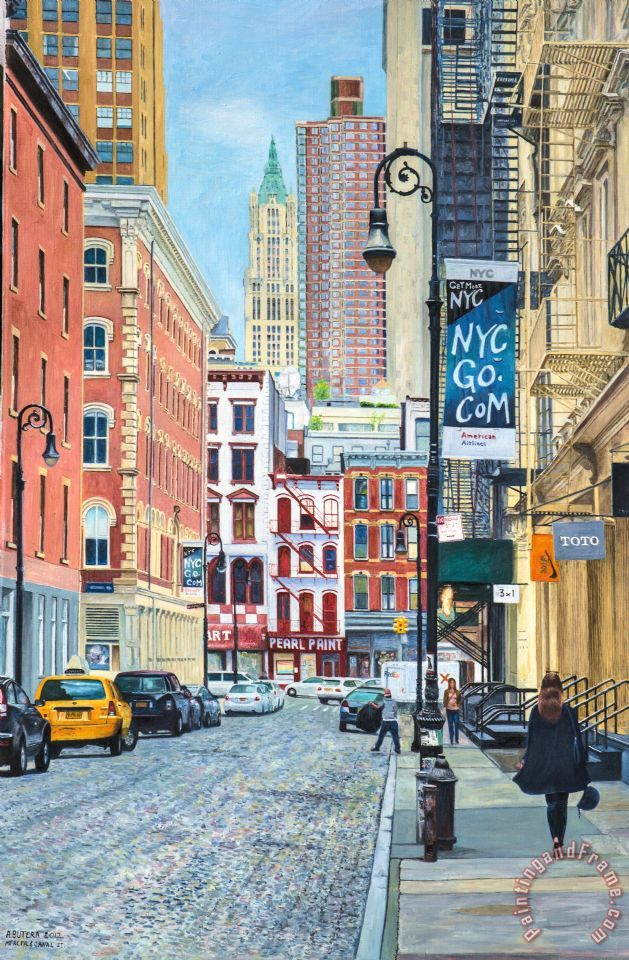 Anthony Butera Pearl Paint Canal St  From Mercer St  Nyc painting     Pearl Paint Canal St  From Mercer St  Nyc painting   Anthony Butera Pearl  Paint