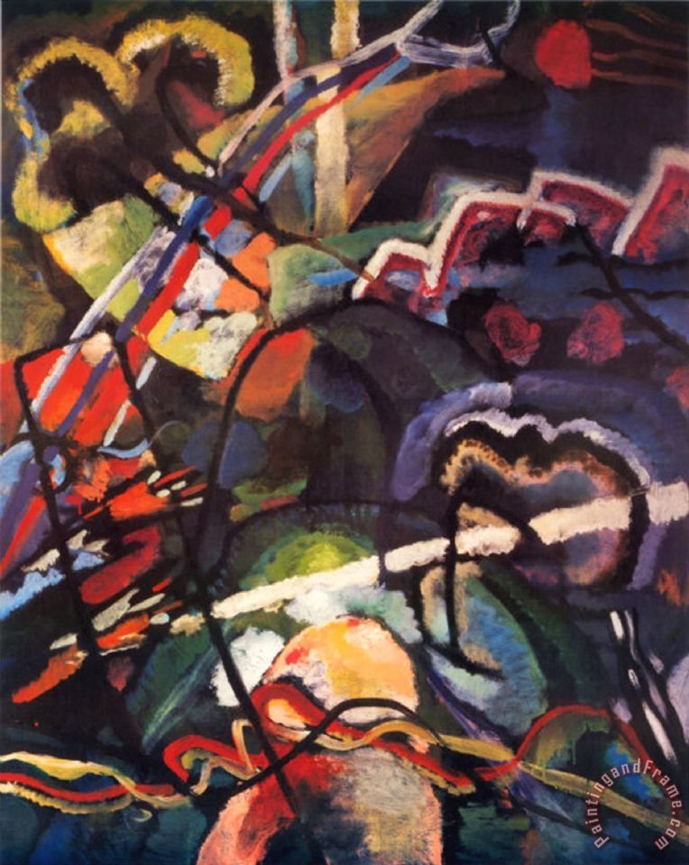 Wassily Kandinsky Composition Storm painting   Composition Storm     Composition Storm painting   Wassily Kandinsky Composition Storm Art Print