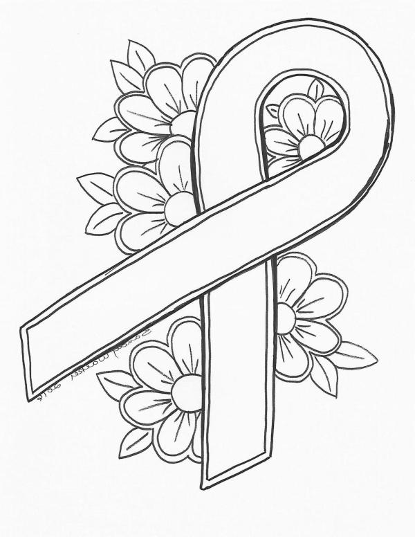 breast cancer coloring pages # 5