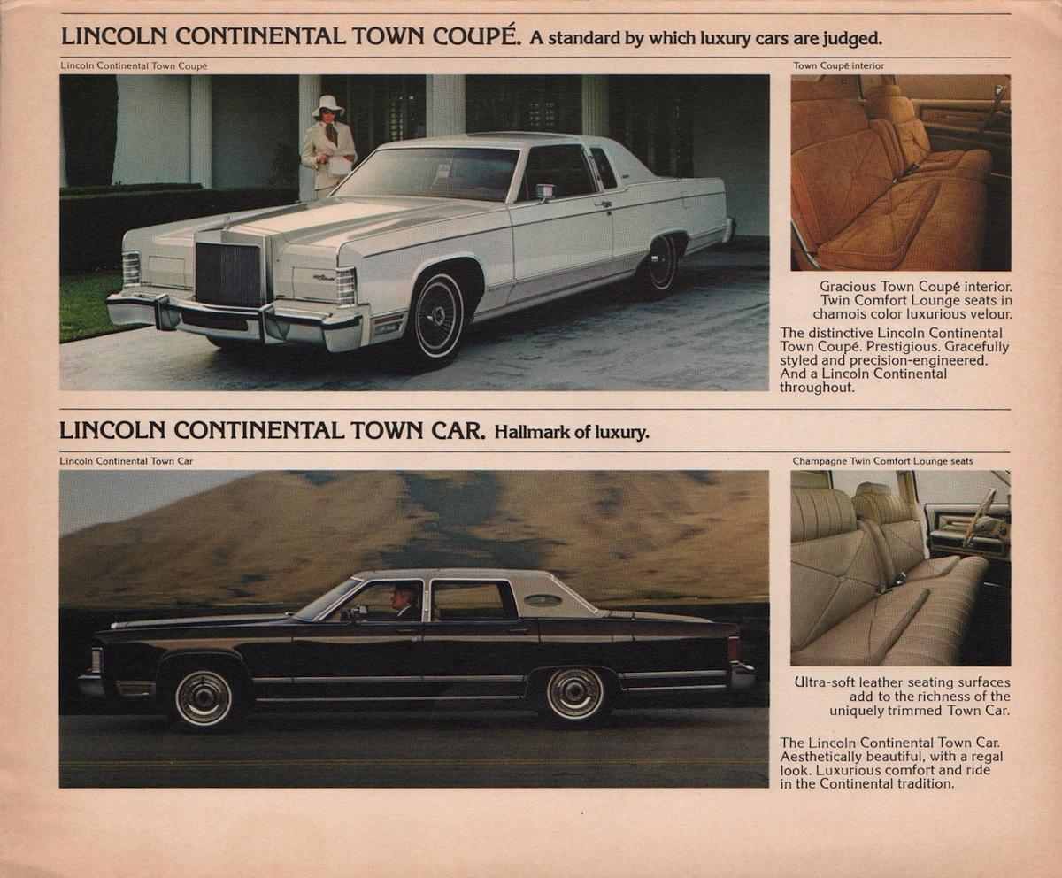 1973 Lincoln Mark Brochure Continental Town Car