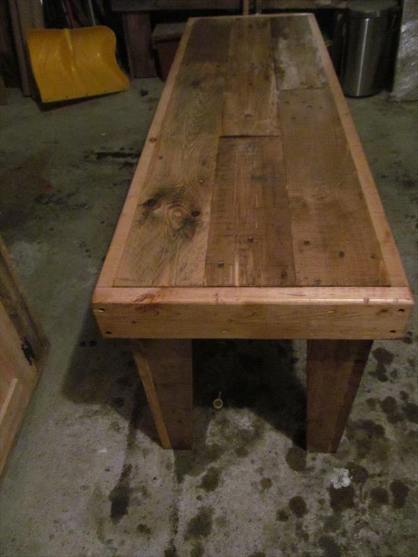 Diy Rustic Yet Sturdy Pallet Bench Seat Pallet Furniture