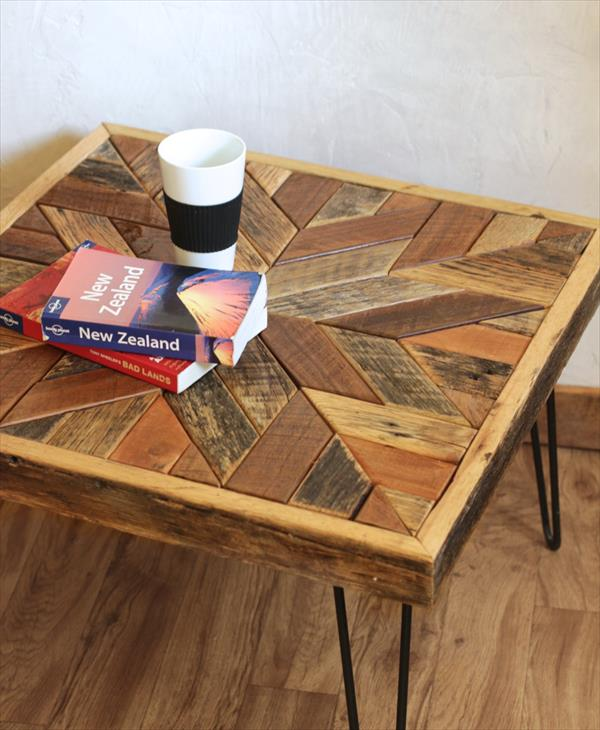 Pallet Coffee Table With Star Pattern Top Pallet
