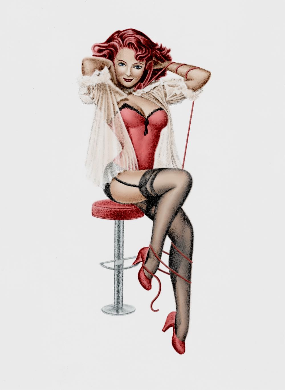 pin up girl tattoos - 736×1009