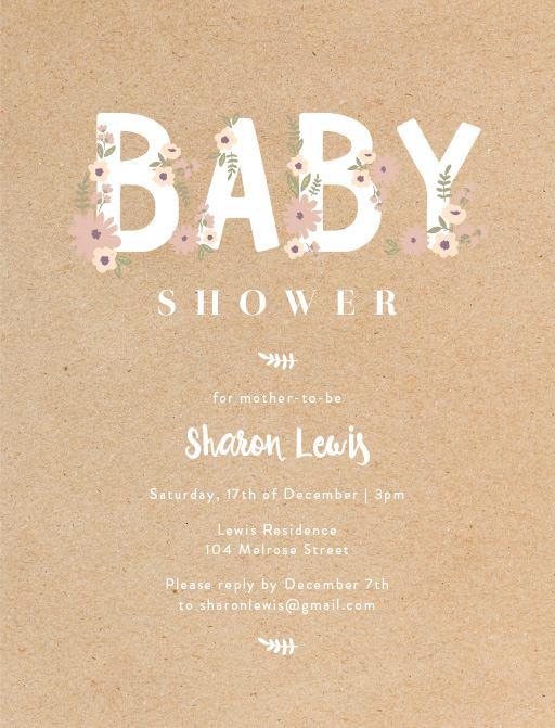 Create Baby Shower Card
