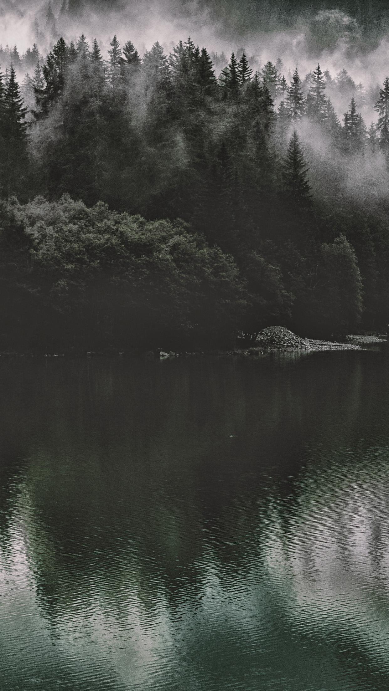 Lake Mountain Night Sky
