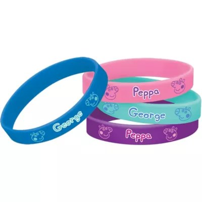 Peppa Pig Wristbands 4ct Party City