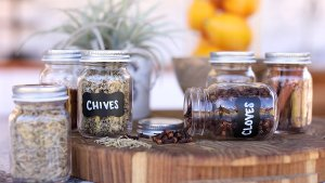 Premium Mason Style Spice Jar Set By Cucina Di Marco 12