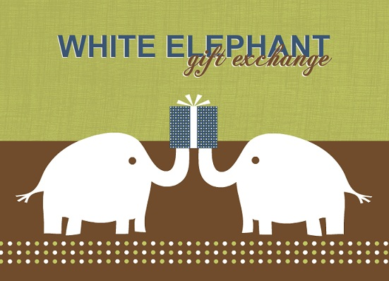 Funny White Elephant Party Invitation