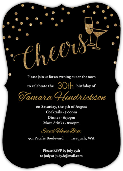 Cheap 30th Invitations