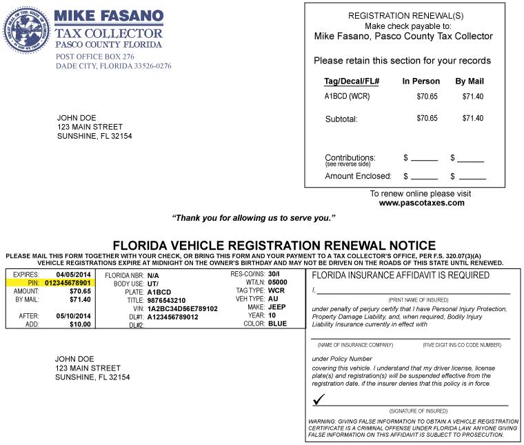 Florida Dmv Registration Renewal Online
