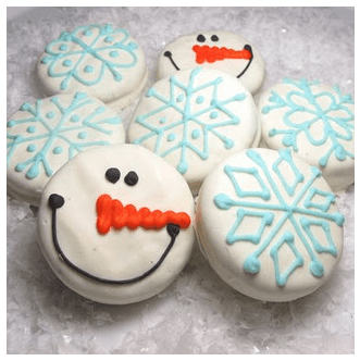 Adorable Cookie Decorating Ideas   Passionate Penny Pincher Check out these cute snowman and snowflake cookies at The Decorated Cookie   love this   A simple idea that is sure to bring smiles to your kids  faces
