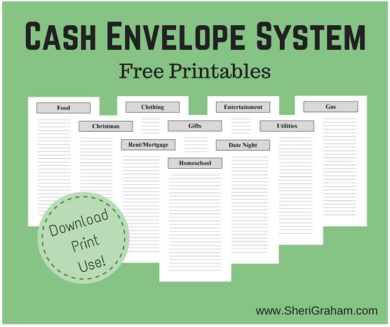 Free Printable Cash Envelope System Passionate Penny Pincher