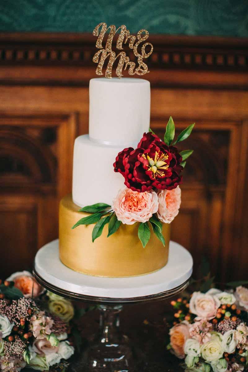 Peach Fall Wedding