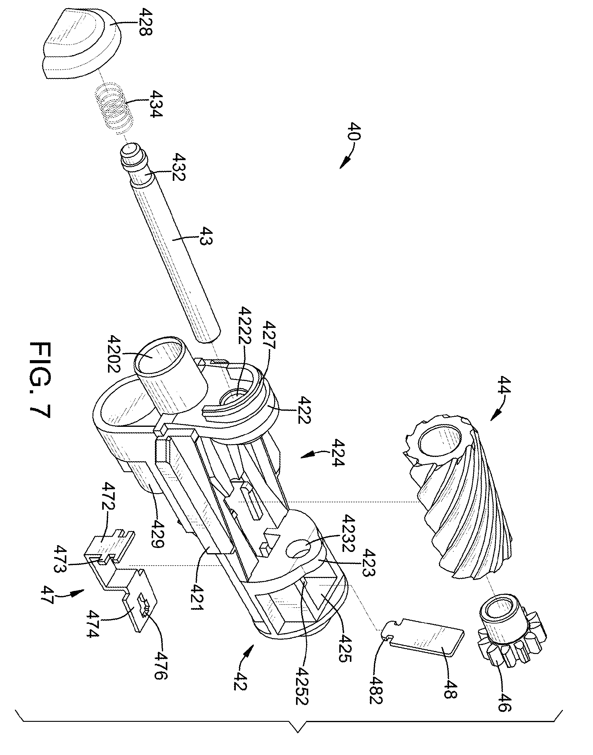 Diagram of electric motor parts