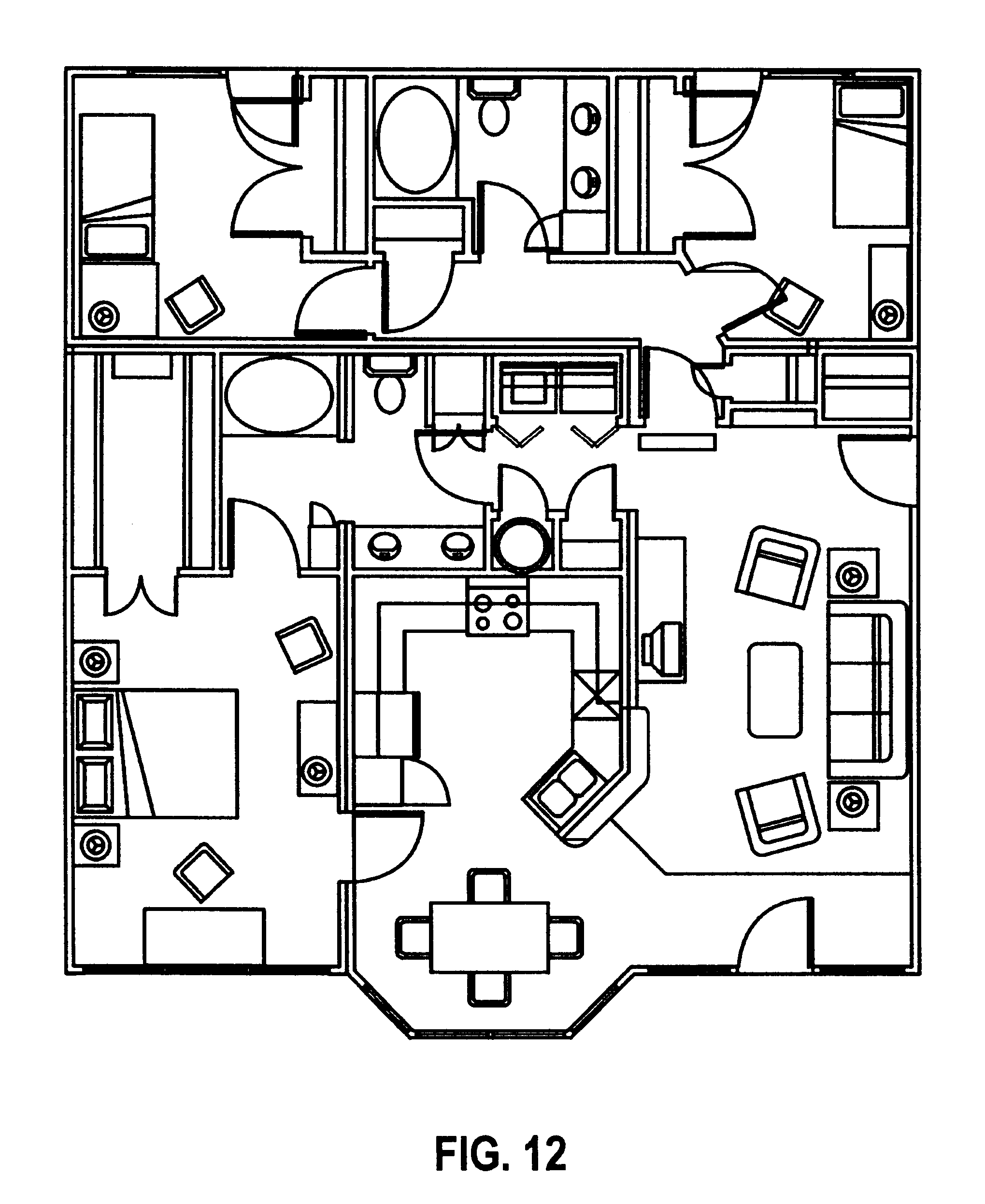 Electrical drawing of a 3 bedroom flat the wiring diagram