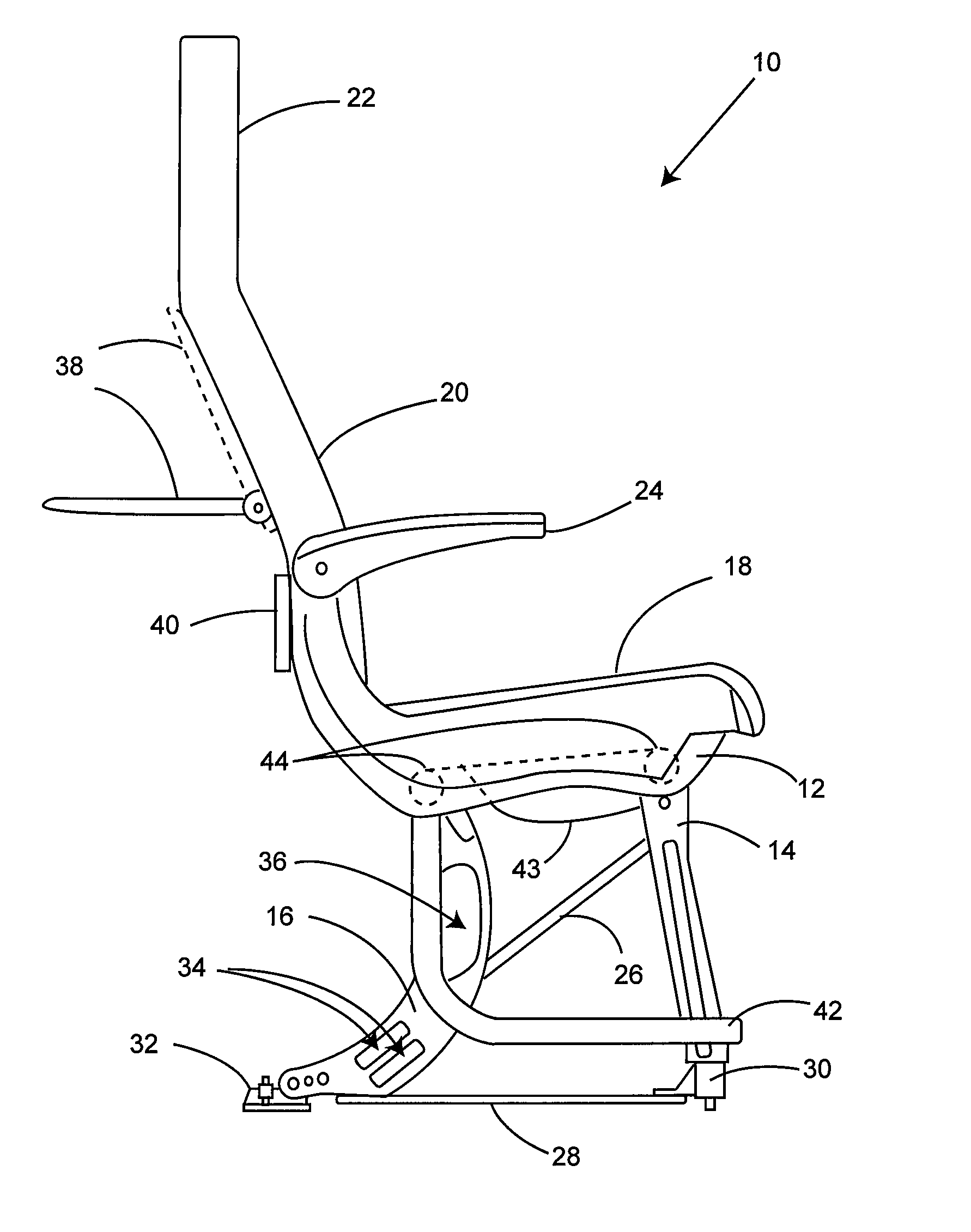 Patent us cushion less aircraft seat patents
