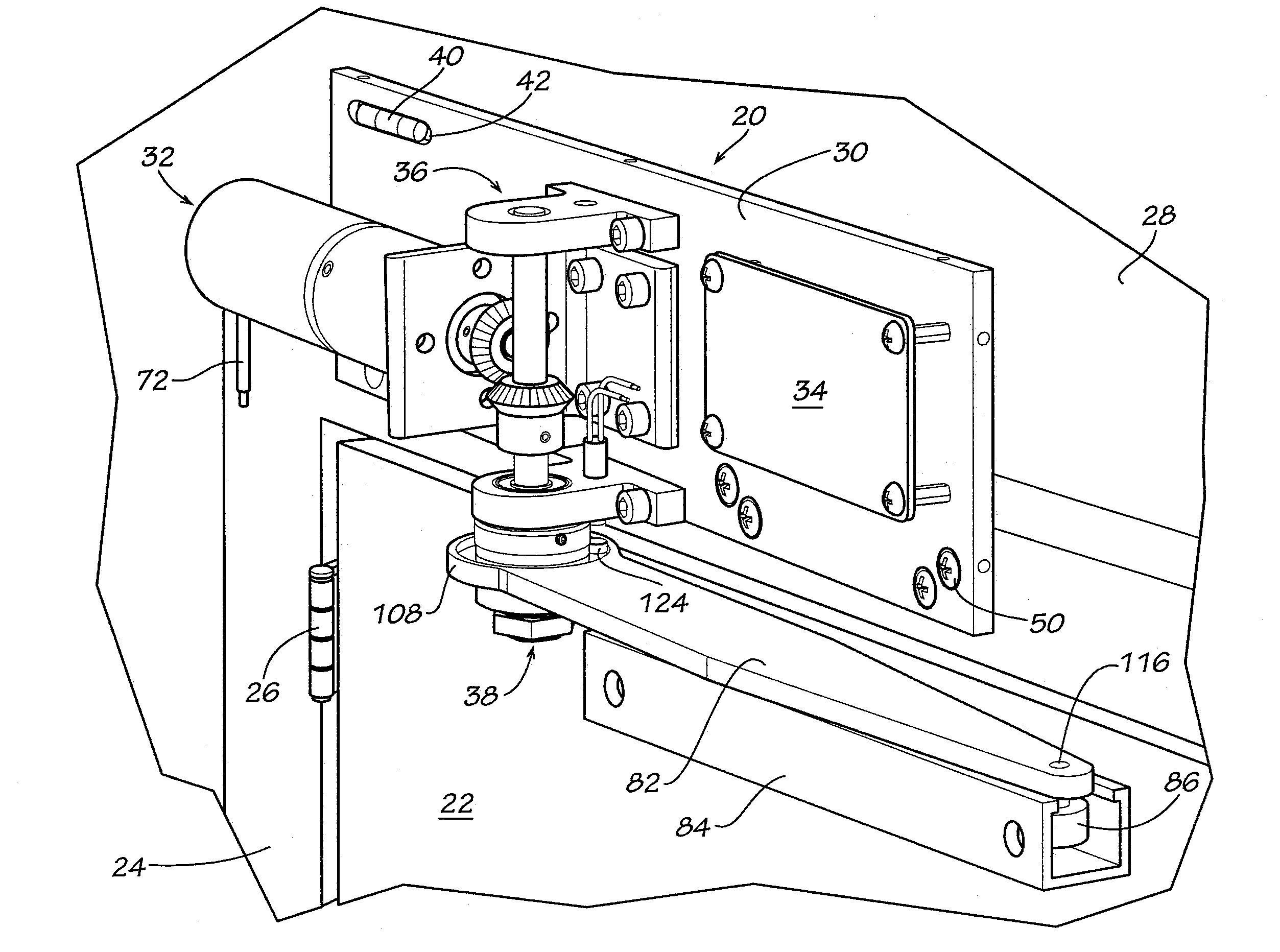Patent us8390219 door operator with electrical back check