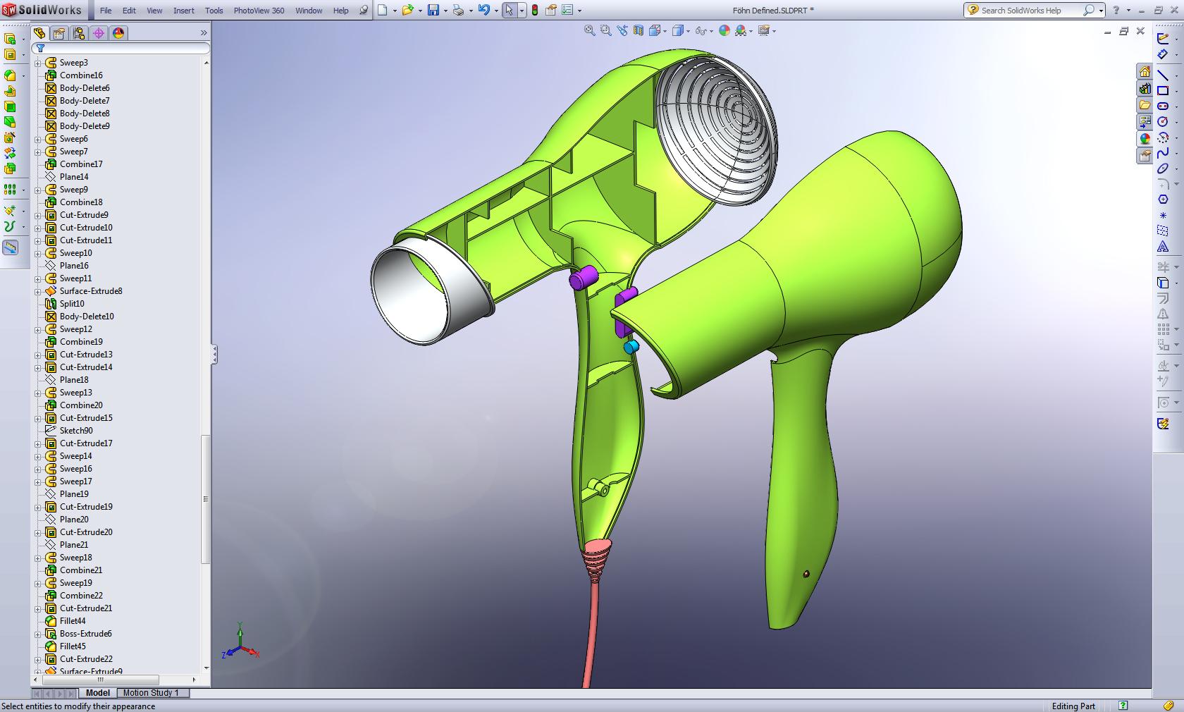 Solidworks 3d Surface Modeling Patrick Bolte