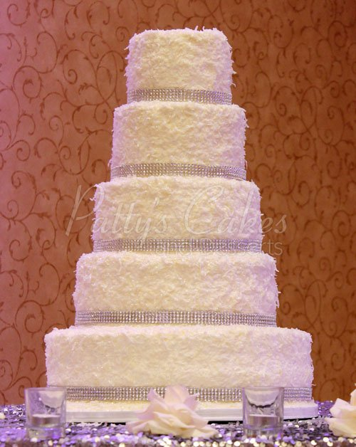 Tall wedding cakes Archives   Patty s Cakes and Desserts wedding cake coconute white bling snow