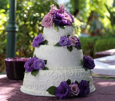 Purple wedding cakes Archives   Patty s Cakes and Desserts wedding cake white purple flowers round