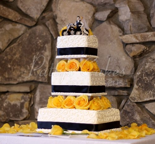 Yellow wedding cakes Archives   Patty s Cakes and Desserts yellow blue wedding cake
