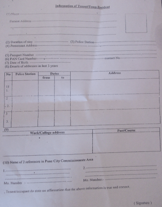 What Is Tenant Verification Form   Design Templates Tenant RTO
