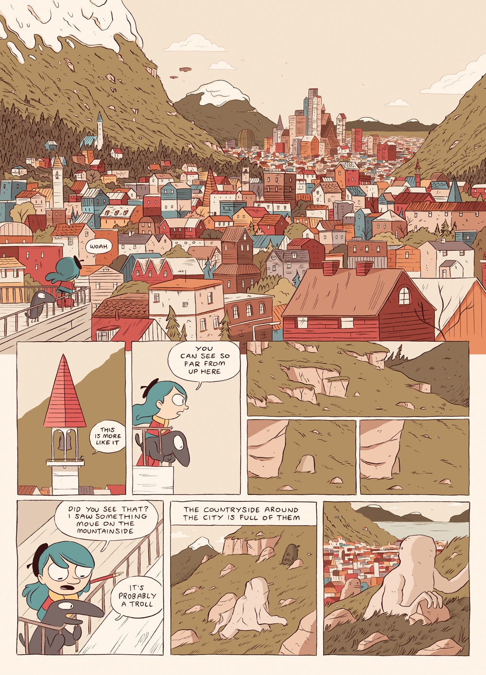 Hilda And The Bird Parade Luke Pearson Illustration