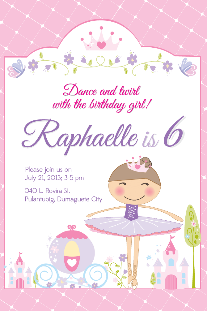 Electronic Christening Invitations