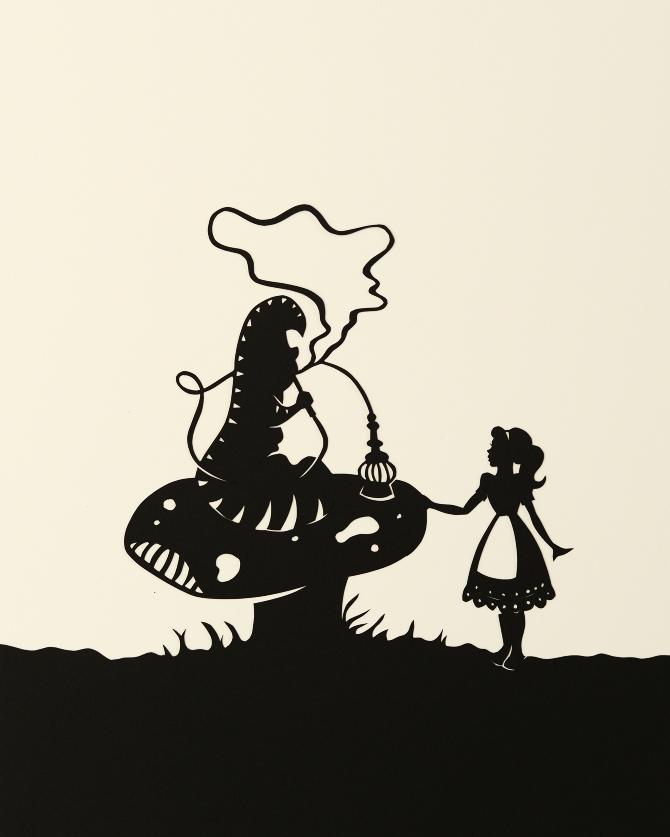 Queen Alice Wonderland Silhouette