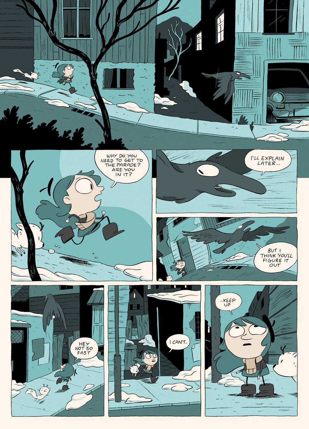 Hilda And The Bird Parade Luke Pearson Illustration And Comics