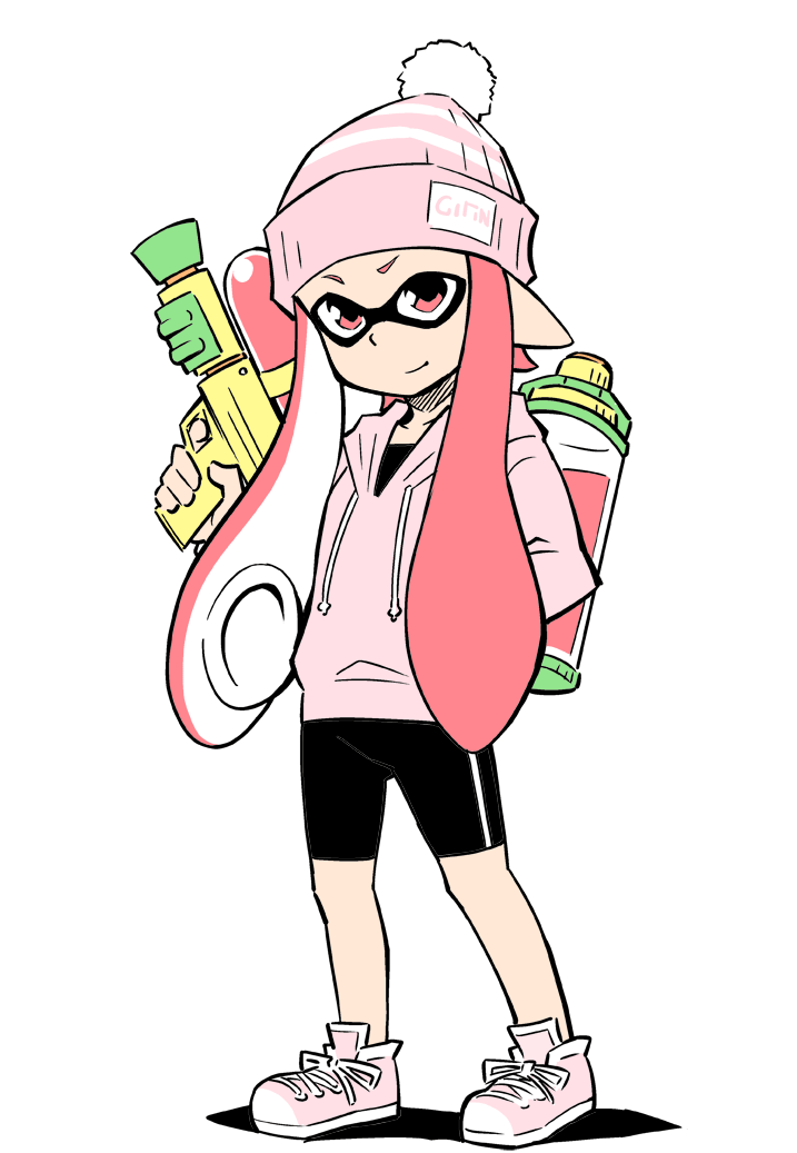 Pink Inkling Girl Cute Splatoon
