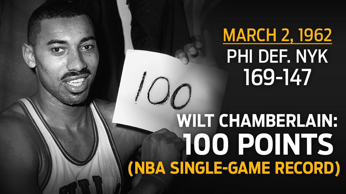 "FS1 on Twitter: ""March 2nd, 1962. Wilt Chamberlain scored ..."