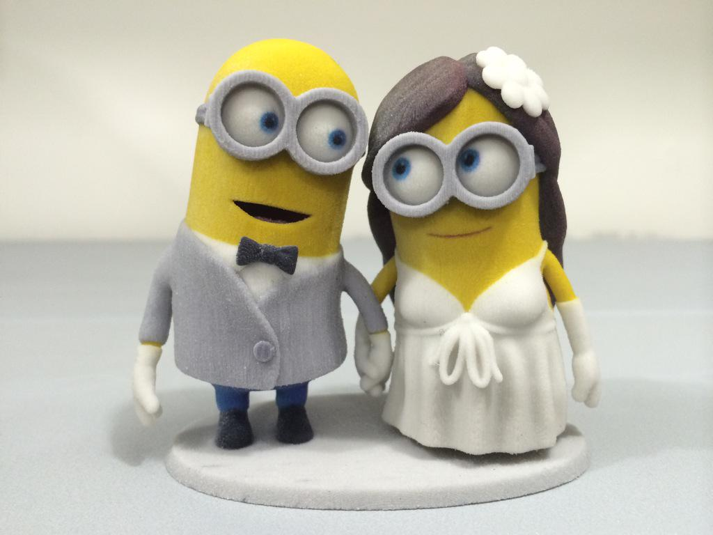 Lil 3D Printing on Twitter   Some  Minions  wedding  cake  topper     Lil 3D Printing on Twitter   Some  Minions  wedding  cake  topper   3dprinting  miltonON  3dprint  sandstone  3dsystems http   t co JZgeglAMoG