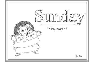 jan brett coloring pages # 66