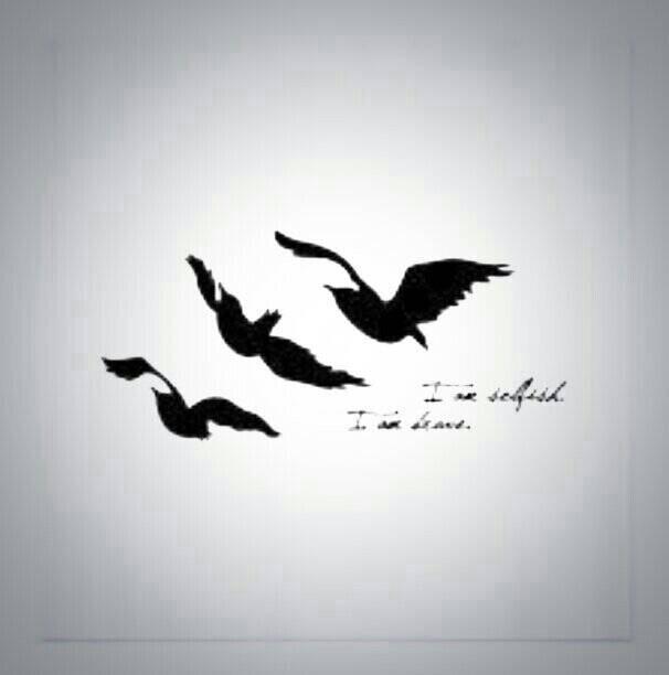 divergent bird tattoo necklace - 600×600