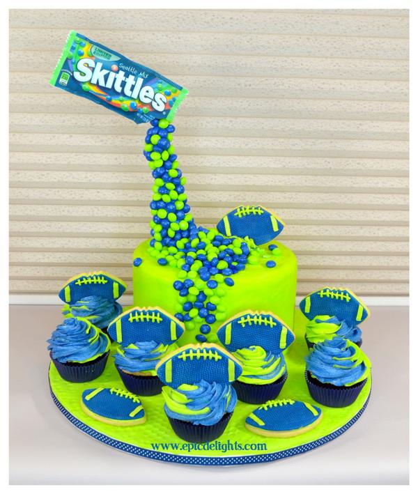 Seattle Seahawks Happy Birthday Cake
