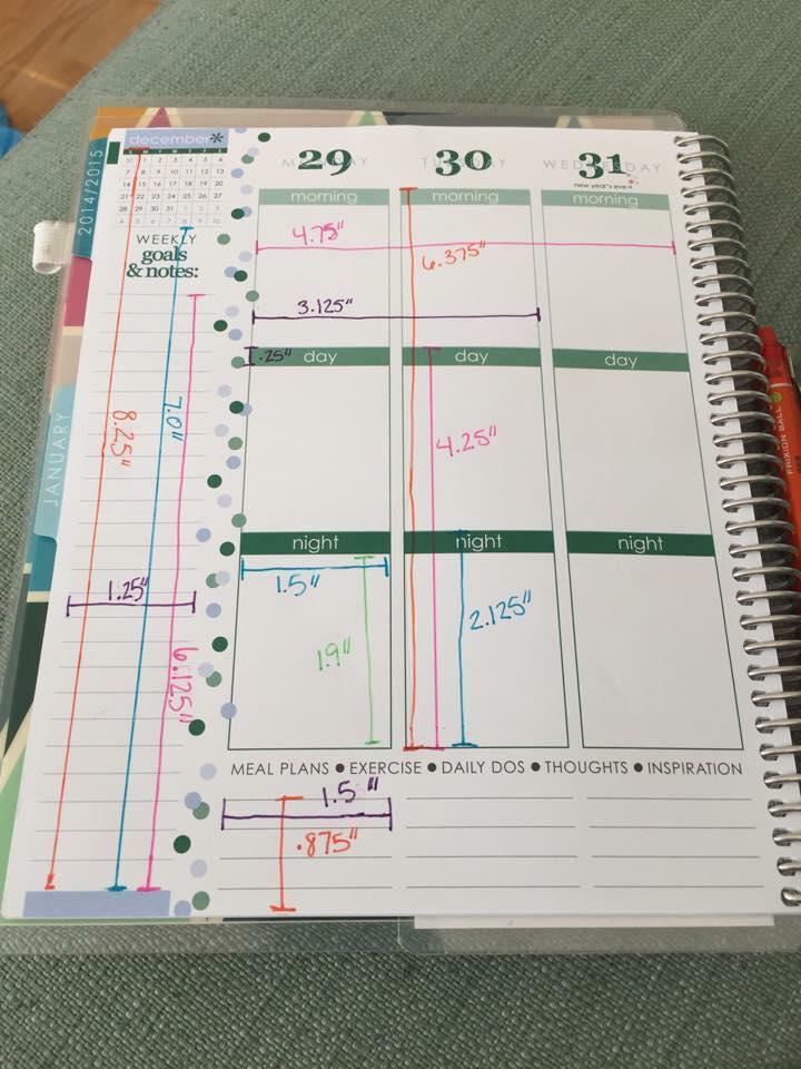 Erin Condren Weekly Layout Measurements