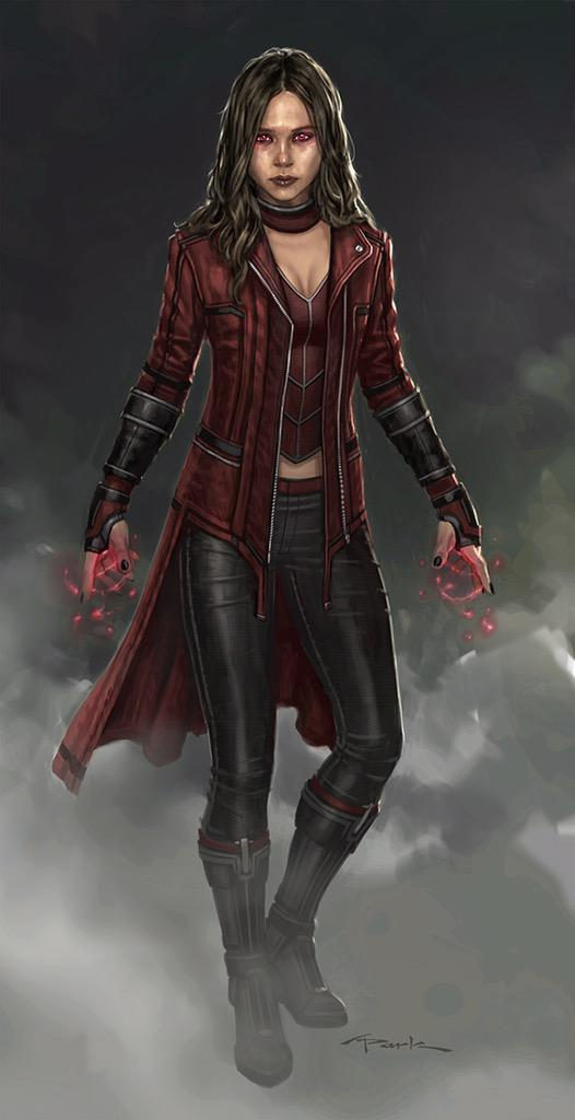 Early Art Scarlet Witch