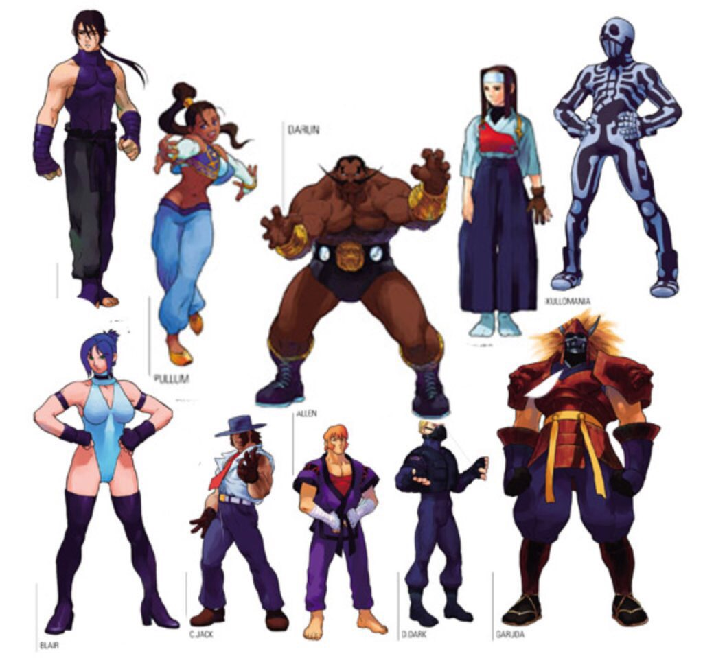 street fighter characters - HD1024×959