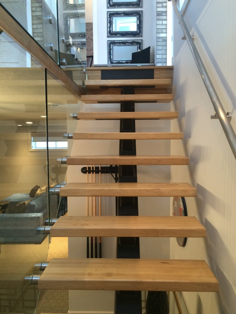 Artistic Stairs Ltd On Twitter This Steel Mono Stringer Stair | Wood Mono Stringer Stairs | Central | Arch | Hardwood | Glass | Timber