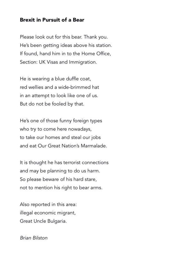 paddington bear poem # 1