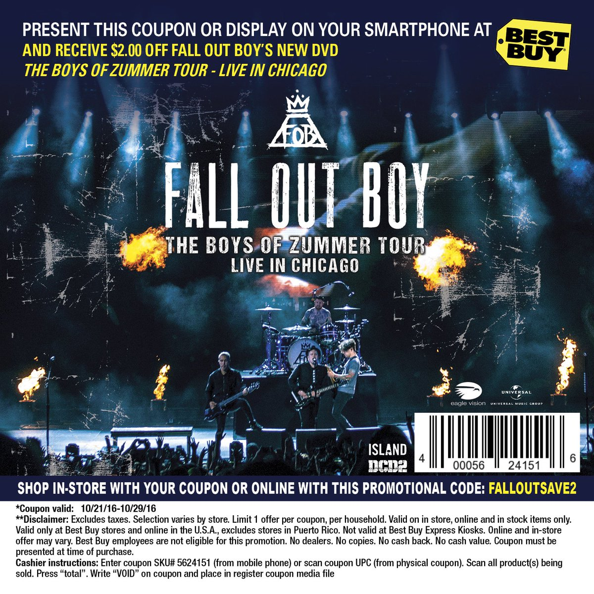 Fall Out Boy Light Chicago