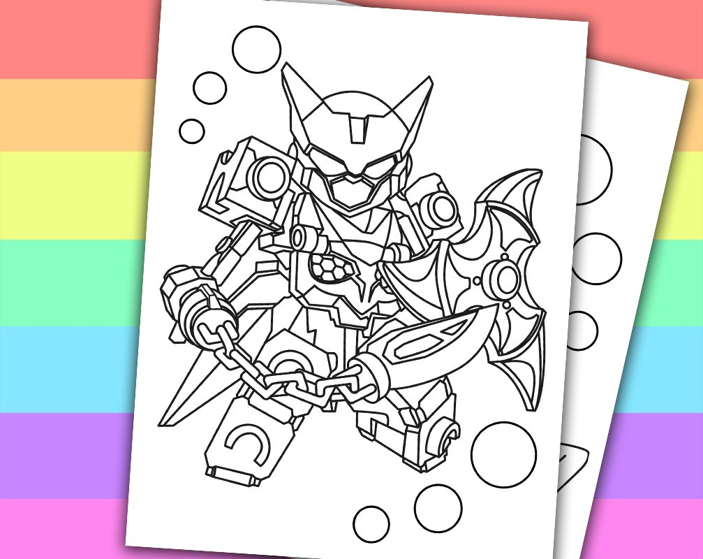 Robo Knight Coloring Pages Com