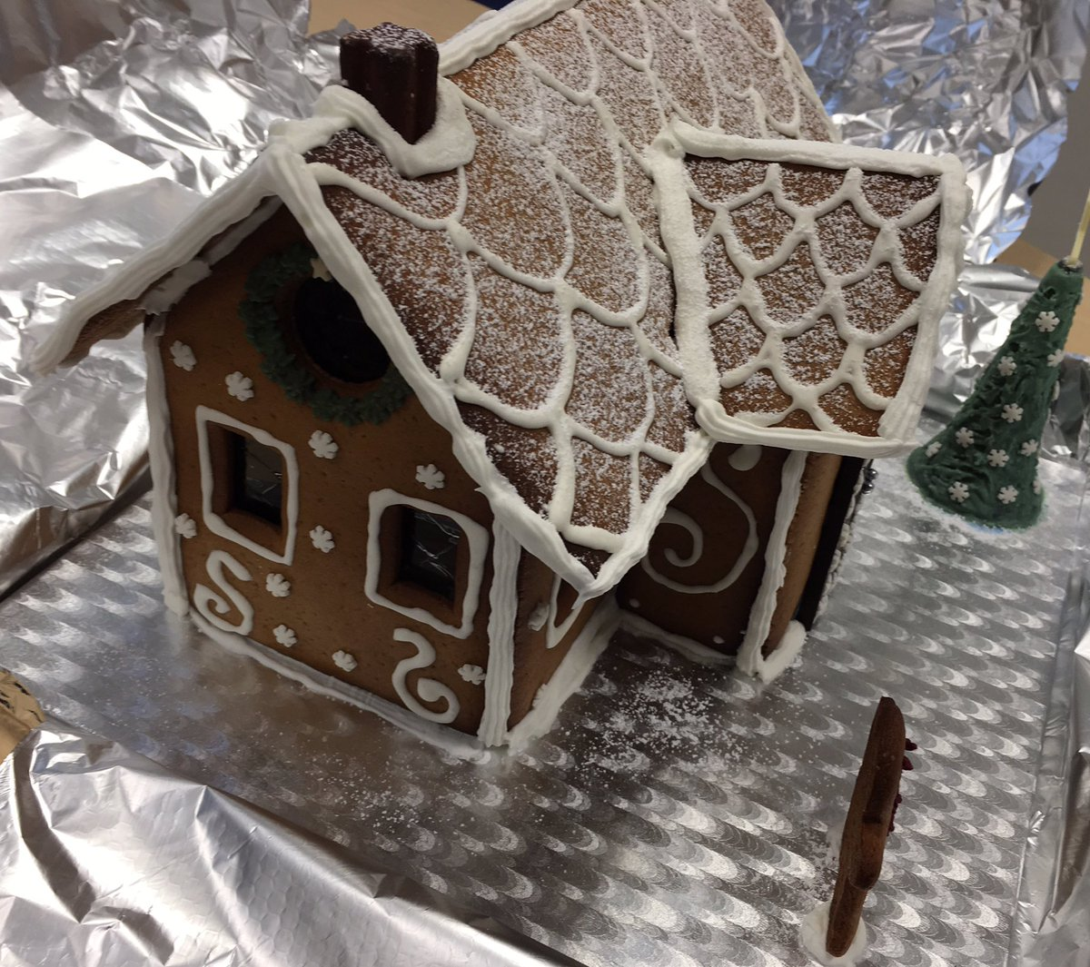 Gingerbread Candy House For A Beach Umbrella