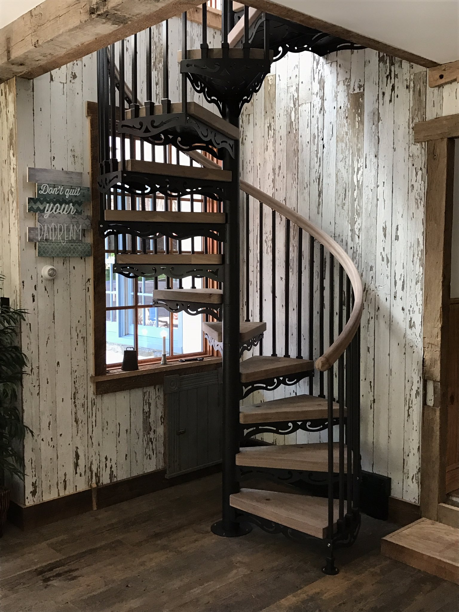 The Iron Shop On Twitter Farm House Spiralstaircase In Glenn | The Iron Shop Stairs | Elk Grove | Staircase Kits | Spiral Stair Case | Stair Railing | Broomall Pennsylvania