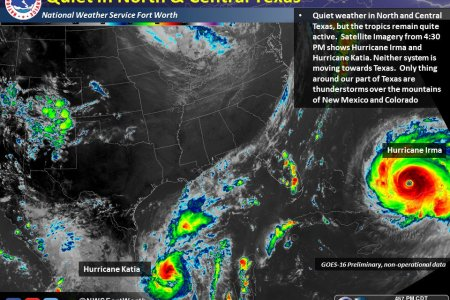 NWS Fort Worth on Twitter   Quiet weather in Texas  but the tropics     2 59 PM   7 Sep 2017