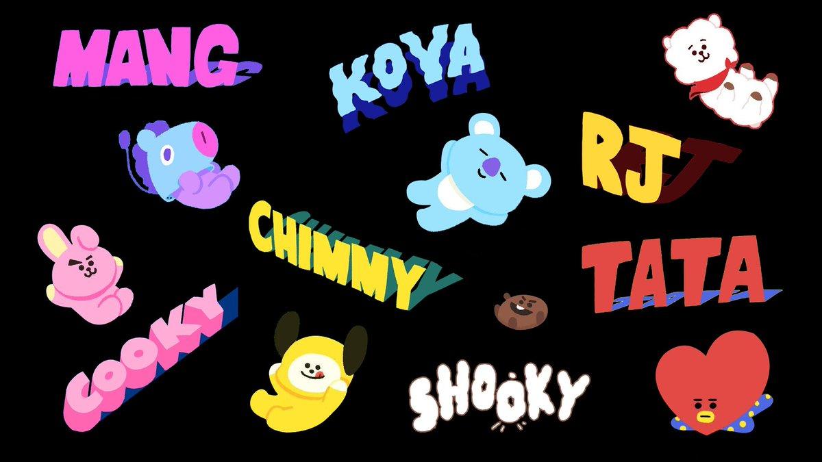 Cooky And Shooky Bt21 Desktop Wallpaper