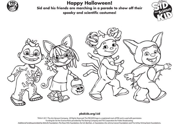 sid the science kid coloring pages # 10