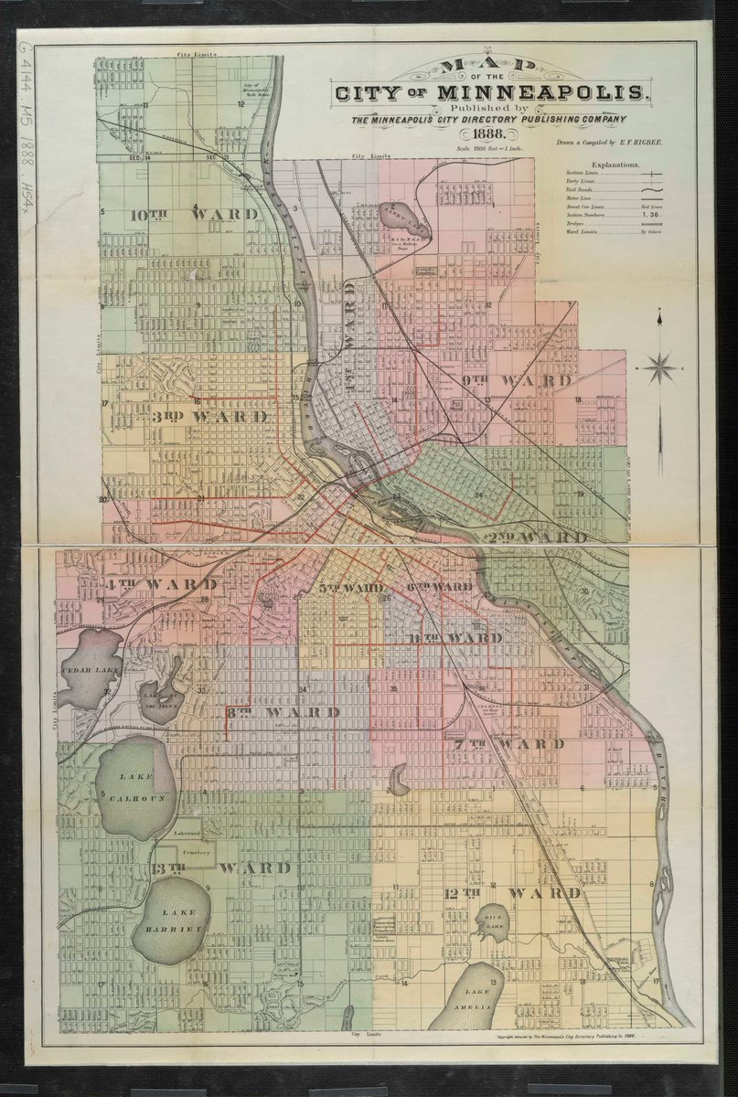 Best Of Minnesota on Twitter   Map of Minneapolis in 1888